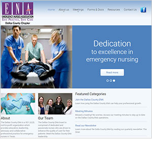 Homepage of the Dallas County ENA website