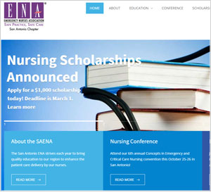 Homepage of the San Antonio ENA website